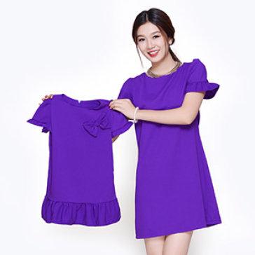 Set Đầm Tay Cách Điệu Cho Mẹ Và Bé