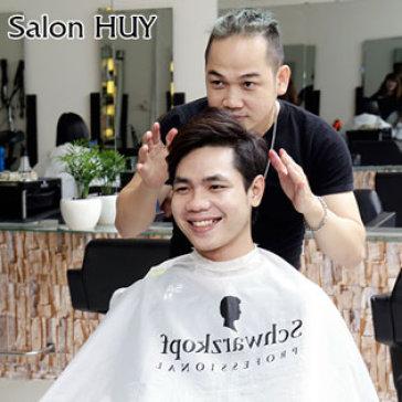 Hair Salon Huy - Duỗi/Nhuộm/Uốn + Cắt + Gội + Sấy Dành Cho Nam