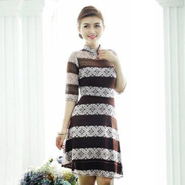 Đầm Ren Thổ Cẩm Vintage