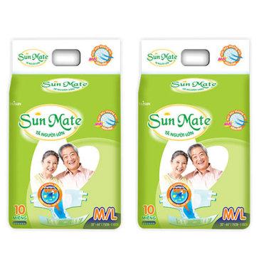 Combo 2 Gói Tã Người Lớn Sunmate Size M/L