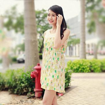 Đầm Xếp Ly Phối Ren